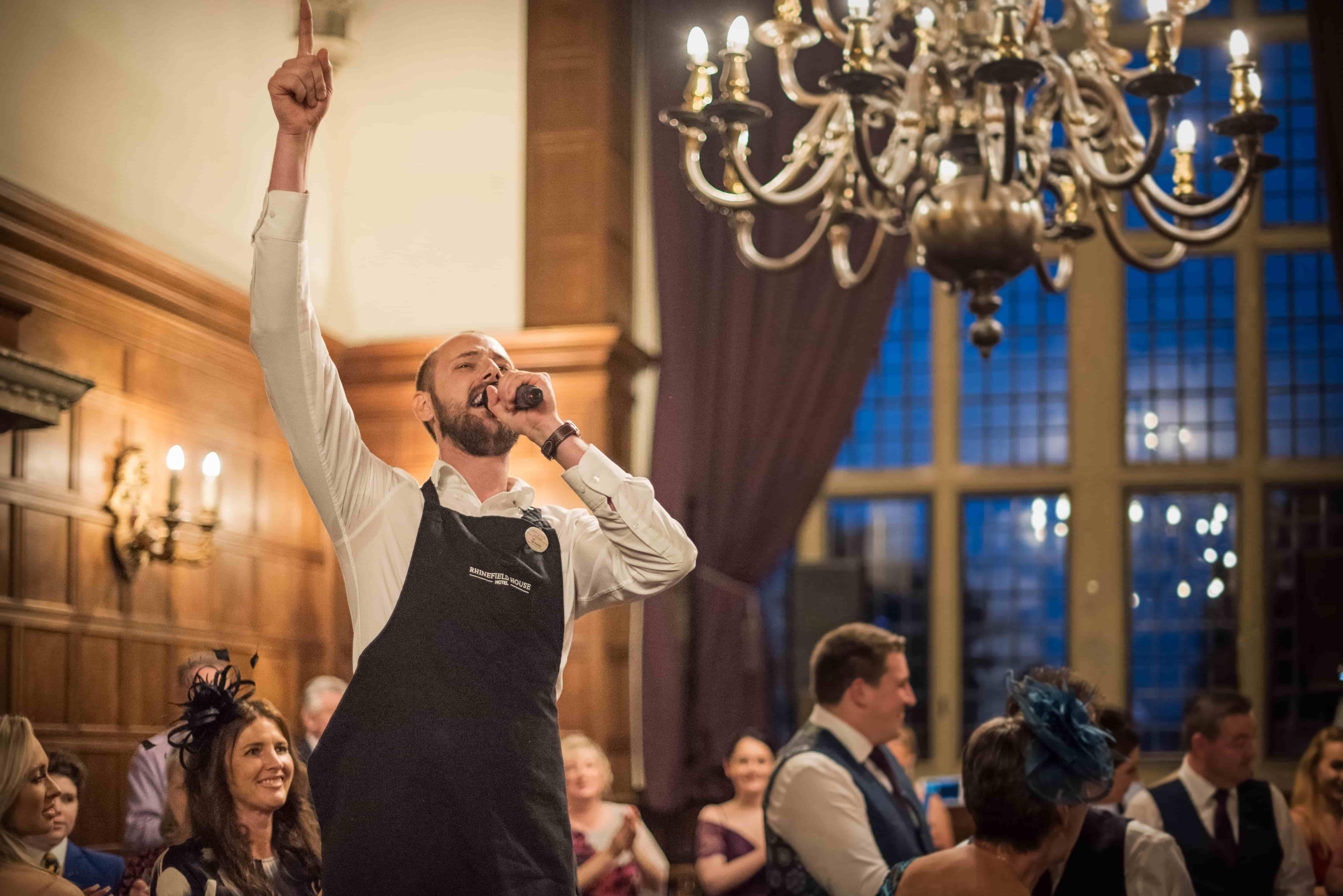 Singing Waiters at wedding